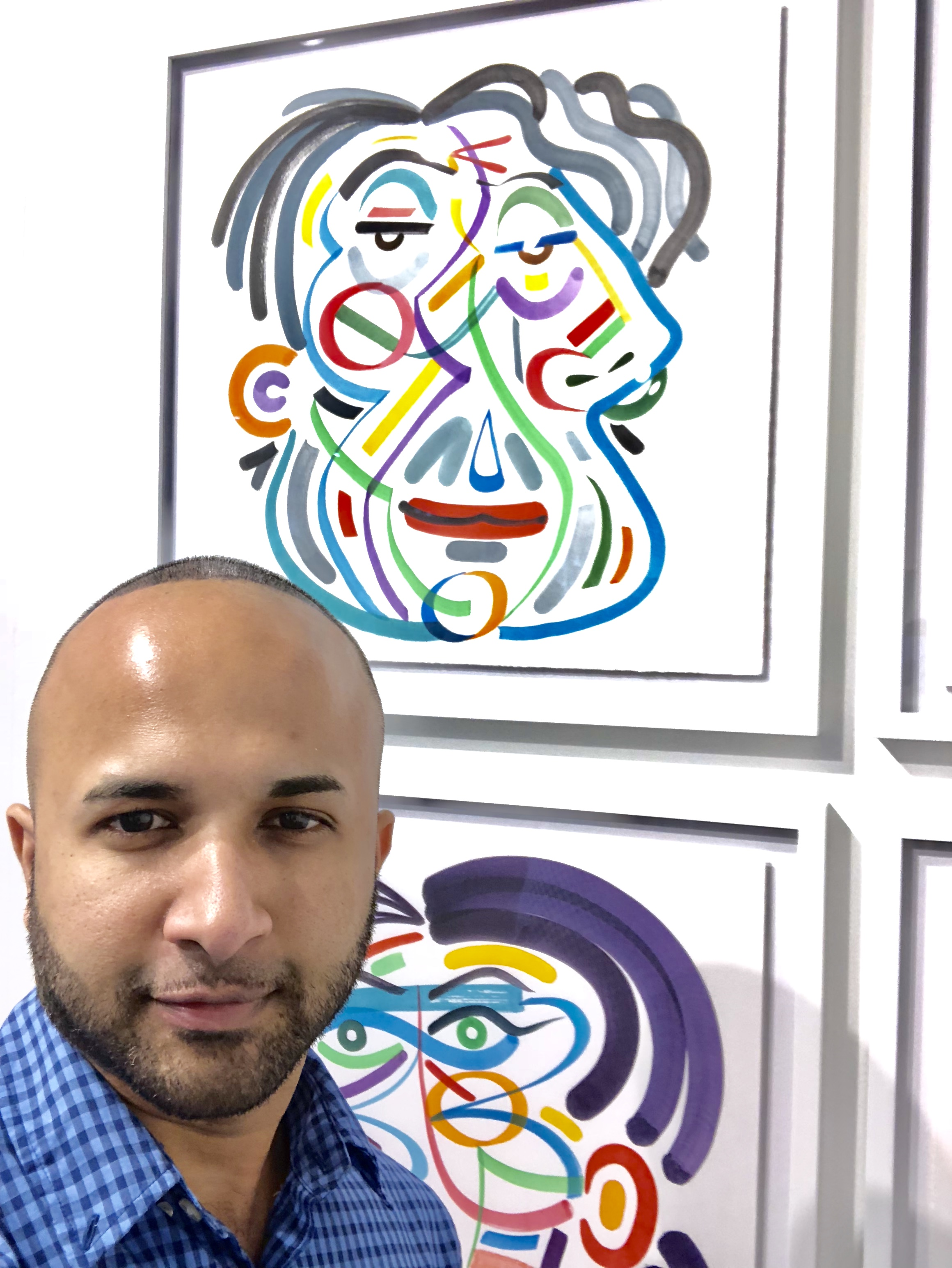 43 Terrence Narinesingh at Art Basel Miami 2017 Robert Pokorny California, USA PRIMITIVES, DERIVATIONS AND FORMATIONS