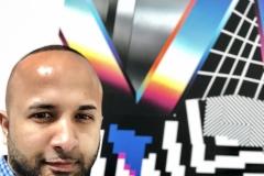 10 Terrence Narinesingh at Art Basel Miami 2017 Felipe Pantone Argentina-Spain PLANAR DIRECTION 9