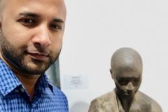 20 Terrence Narinesingh at Art Basel Miami 2017 Jesus Curia Spain MUJER SENTADA II