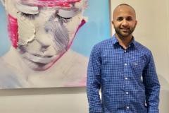 49 Terrence Narinesingh at Art Basel Miami 2017 THE SPACE BETWEEN - MAGENTA V1