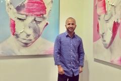 50 Terrence Narinesingh at Art Basel Miami 2017 THE SPACE BETWEEN - MAGENTA V1 & CERULEAN V1 - Close Up