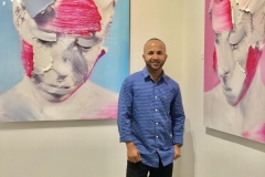 51 Terrence Narinesingh at Art Basel Miami 2017 THE SPACE BETWEEN - MAGENTA V1 & CERULEAN V1 - Distant Shot