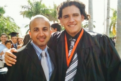 With graduating student