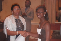 10 Scholarship Recipient with Presenter at Caribbean Educators Association Annual Scholarship Awards 2012