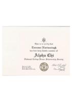 Alpha Chi Certificate