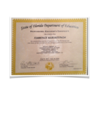 Florida Department of Education Educator Certificate
