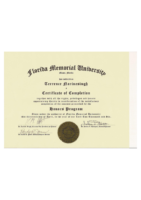 Honors Program Completion Certificate