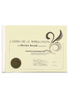 Honors Program Service Award