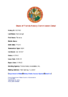 State of Florida Notary Commission Detail – Terrence Narinesingh