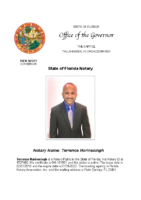 Terrence Narinesingh Florida Notary Commission Detail Office of the Governor Rick Scott