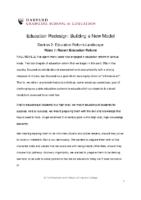 Recent Education Reform