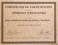 Terrence Narinesingh Post-Approval Charter School Training 2018 Florida Department of Education