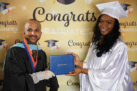Picture 02 a – Dr. Terrence Narinesingh, Ph.D. at Broward County Public Schools Graduation with graduating senior Jade Green